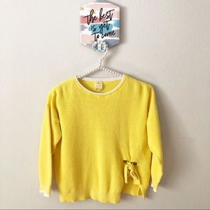 Zara Girls Summer Collection Yellow Knit Sweater